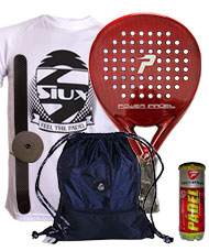PACK POWER PADEL RED BRILLO Y BOLSA MOCHILA