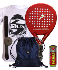 PACK POWER PADEL RED MATE Y BOLSA MOCHILA