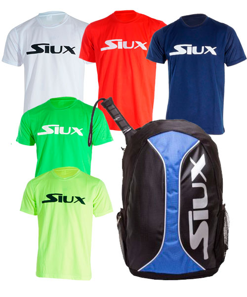 PACK SIUX TRAIL 2.0 BLUE AND 5 SIUX T-SHIRTS