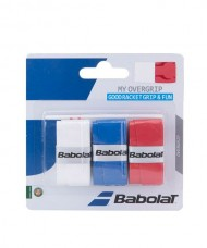 OVERGRIP BABOLAT MY OVERGRIP X3 WHITE BLUE RED