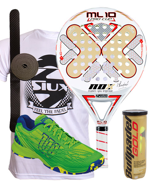 PACK NOX ML 10 PRO CUP AND WILSON KAOS CLAY SHOES