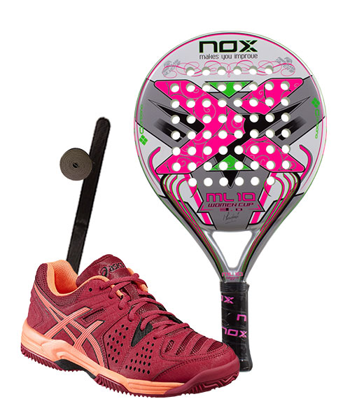 PACK NOX ML10 WOMAN CUP 3.0 Y ZAPATILLAS ASICS GEL PRO