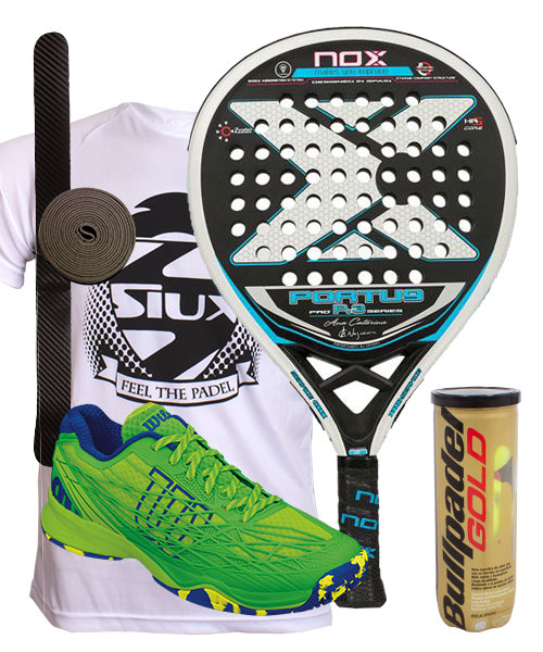 PACK NOX PORTU P3 AND WILSON KAOS CLAY SHOES