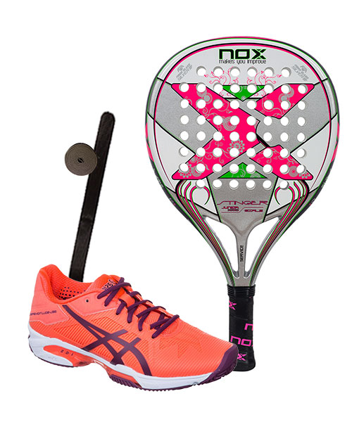 PACK NOX STINGER JR 2.1 GIRLS Y ASICS GEL SOLUTION SPEED