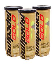 PACK DE 3 BOTES DE 3 BOLAS BULLPADEL GOLD