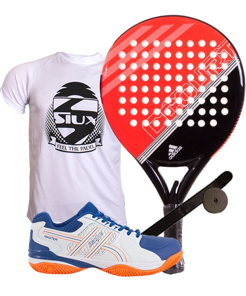 reputable site 3a97c b2900 PACK ADIDAS FAST COURT RED AND JHAYBER PADEL SHOES