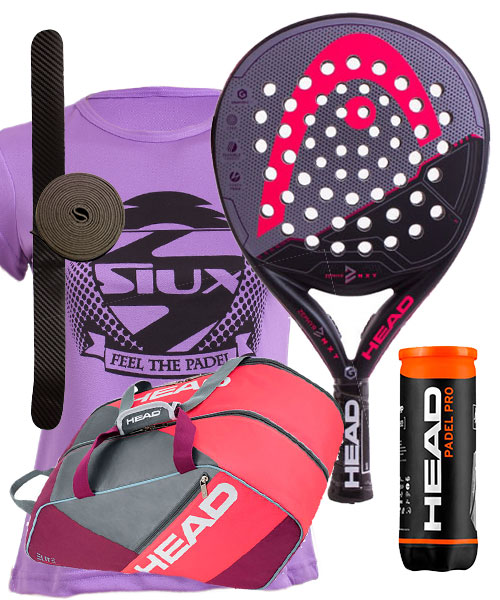 PACK HEAD GRAPHENE XT ZEPHYR Y PALETERO ELITE PADEL SUPERCOMBI