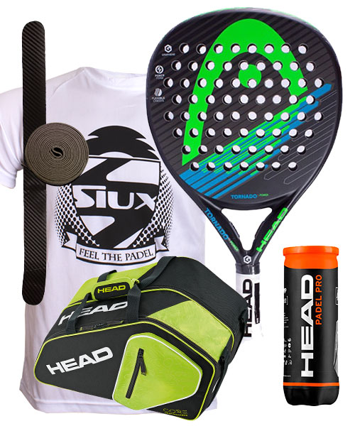 PACK HEAD TORNADO POWER Y PALETERO CORE PADEL COMBI