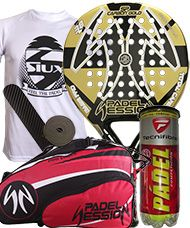 PACK PADEL SESSION SP CARBON GOLD Y PALETERO PADEL SESSION