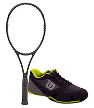 PACK WILSON PRO STAFF 97 LS AND TENNIS SHOES WILSON RUSH PRO 2.5