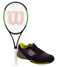PACK WILSON BLADE 101L AND WILSON RUSH PRO 2.5 TENNIS SHOES