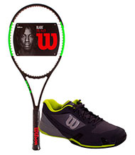 PACK WILSON BLADE 98L 16X19 & TENNIS SHOES WILSON RUSH PRO 2.5