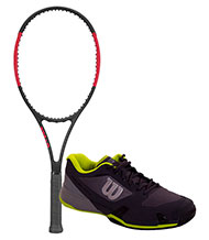 PACK WILSON PRO STAFF 97 AND WILSON RUSH PRO 2.5 TENNIS SHOES
