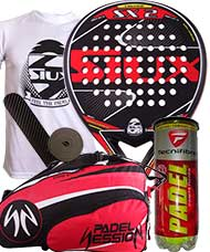 PACK SIUX SX2 Y PALETERO PADEL SESSION