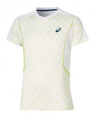 ASICS PADEL SS TOP WHITE LIME SHIRT