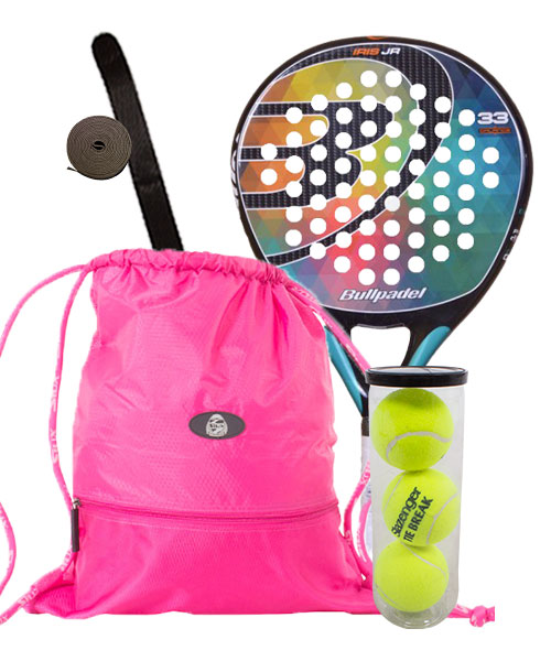 PACK BULLPADEL IRIS JUNIOR AND GYMSACK BAG SIUX