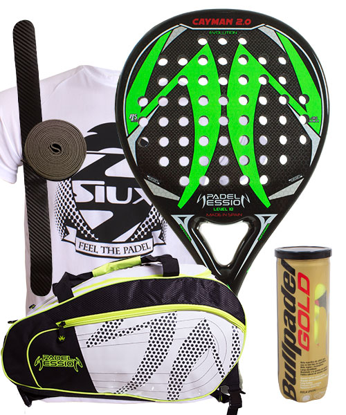 PACK PADEL SESSION CAYMAN 2.0 AND MATRIX 3 PADEL BAG