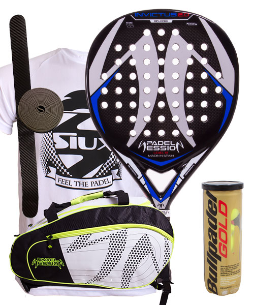 PACK PADEL SESSION INVICTUS 2.0 AND MATRIX 3 PADEL BAG
