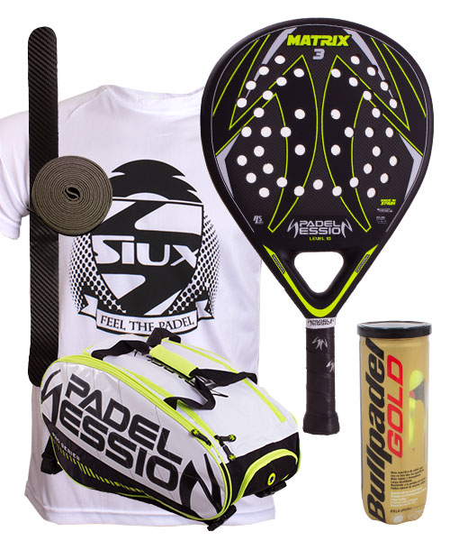 PACK PADEL SESSION PADEL RACKET AND MATRIX 3 PADEL BAG