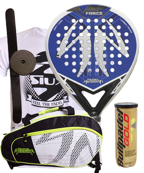 PACK PADEL SESSION V FORCE AND MATRIX 3 PADEL BAG