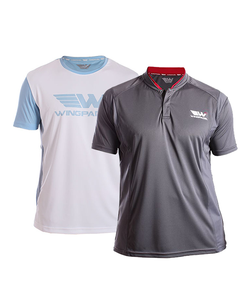 PACK WINGPADEL W-IVO GREY POLO SHIRT AND W-LALO BLUE SHIRT