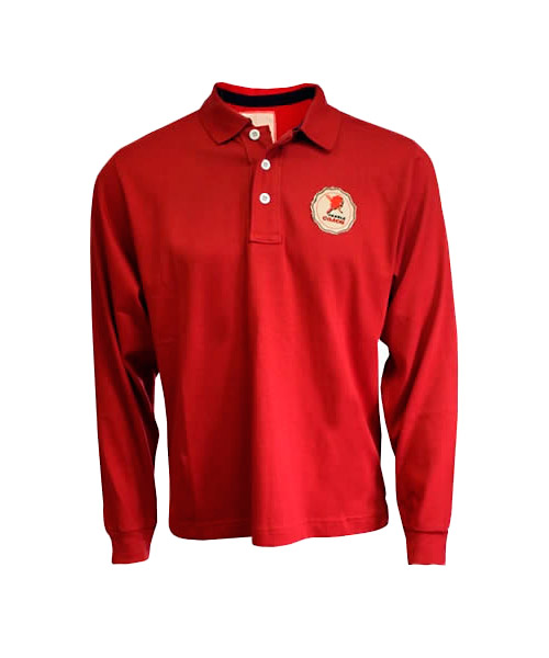 POLO SHIRT PADEL COACH RED LONG SLEEVE