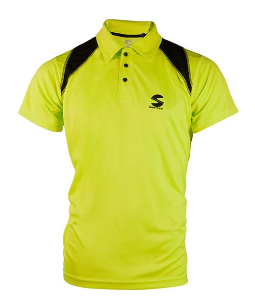 POLO SHIRT PADEL SOFTEE REFLEX YELLOW BLACK