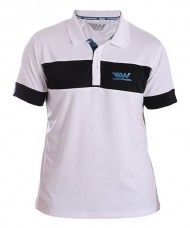 POLO SHIRT WINGPADEL THEO WHITE BLACK