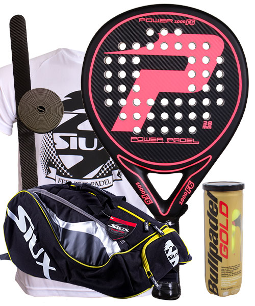 PACK POWER PADEL F6 Y PALETERO SIUX