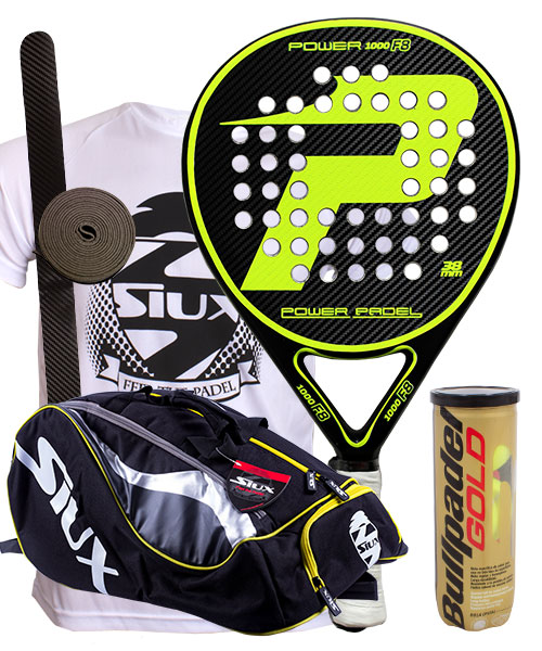 PACK POWER PADEL F8 Y PALETERO SIUX MASTERCOMBI