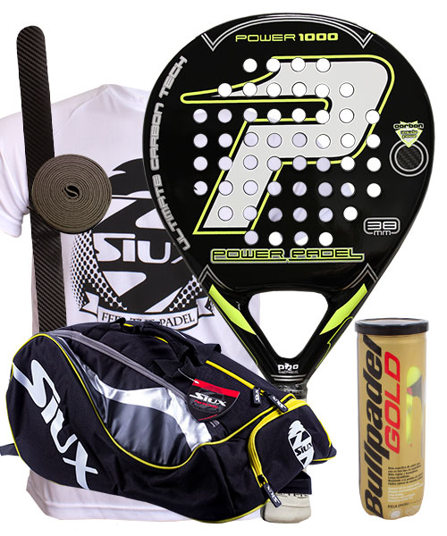 PACK POWER PADEL 1000 EVA Y PALETERO SIUX