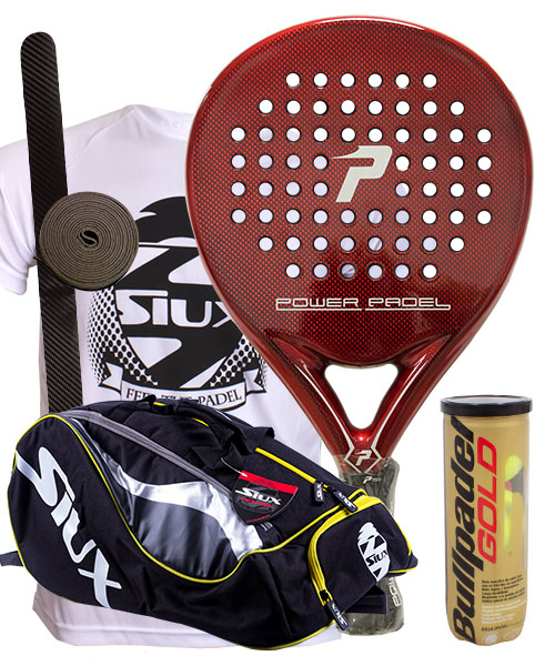 PACK POWER PADEL RED BRILLO Y PALETERO SIUX