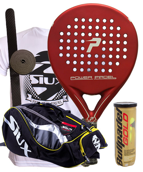 PACK POWER PADEL RED MATE Y PALETERO SIUX