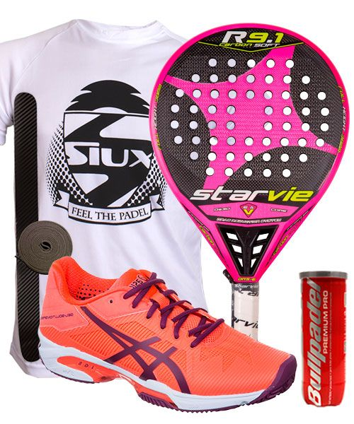 PACK STAR VIE R9.1 CARBON SOFT ROSA Y ASICS GEL SOLUTION