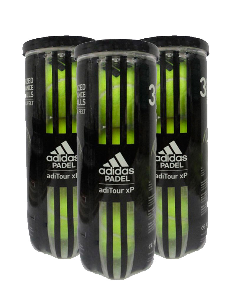 Posteridad alfombra Personas mayores  Pack 3 cans of balls Adidas Aditour XP | Adidas premium balls