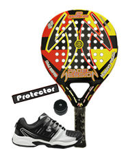PACK PADEL SESSION SP CARBON EVO Y ZAPATILLAS SIUX