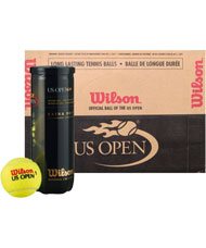 24 CANS OF 3 BALLS  WILSON US OPEN BOX