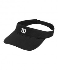 WILSON RUSH KNIT VISOR ULTRALIGHT BLACK