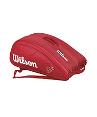 WILSON FEDERER 12 PACK RED RACKET BAG WRZ830712