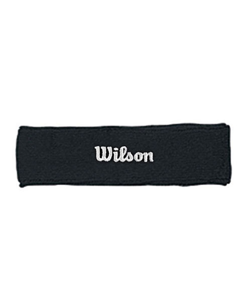 BLACK WILSON HEAD BAND WITH WHITE LOGO