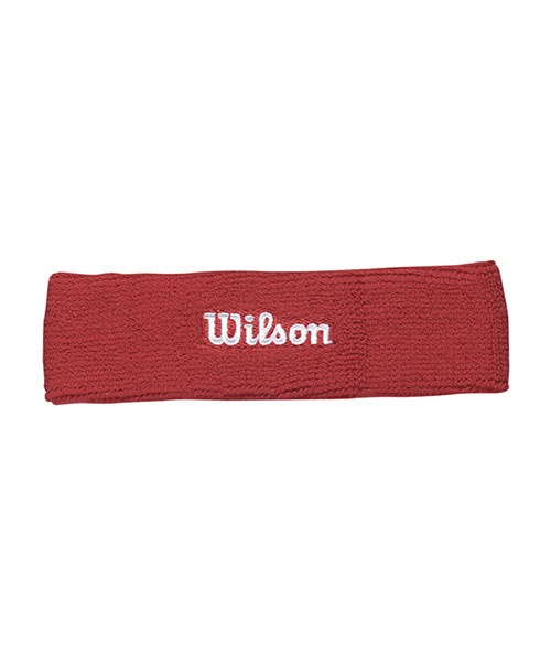 RED WILSON HEAD BAND WITH WHITE LOGO