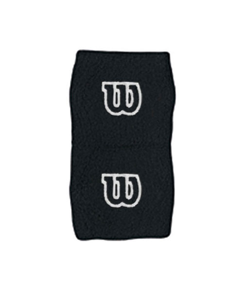 BLACK WILSON WRISTBAND WITH WHITE LOGO