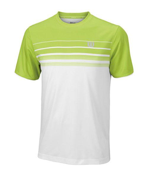 CAMISETA WILSON SP STRIPED CREW BLANCO VERDE