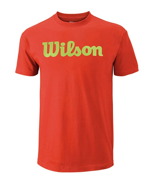WILSON SCRIPT COTTON TEE RED GREEN T-SHIRT