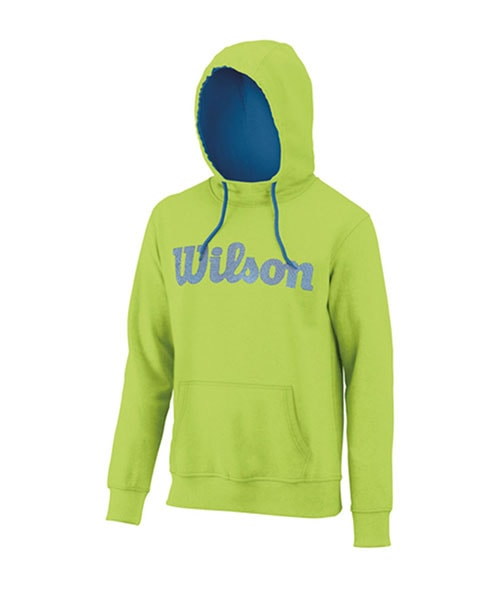 SWEATSHIRT WILSON SCRIPT COTTON PO HOODY GREEN