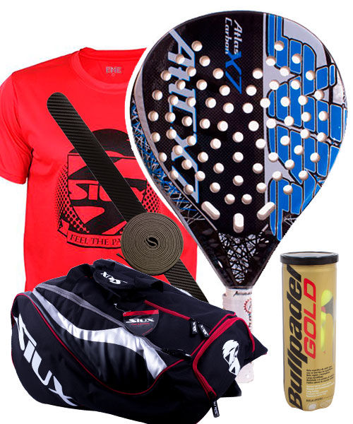 PACK AKKERON ATLAS CARBON X7 AND SIUX MASTERCOMBI PADEL BAG