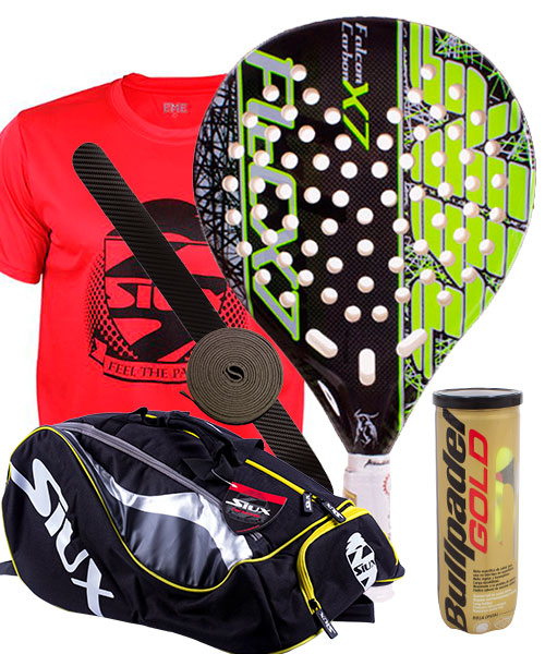 PACK AKKERON FALCON CARBON X7 AND SIUX MASTERCOMBI PADEL BAG