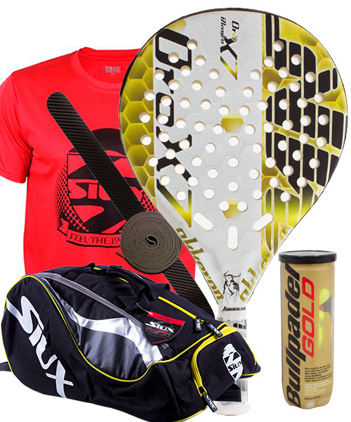 PACK AKKERON WHITE GOLD AND SIUX MASTERCOMBI PADEL BAG