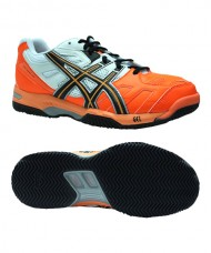 ASICS GEL PADEL TOP SG ORANGE BLACK WHITE E411Y 3090