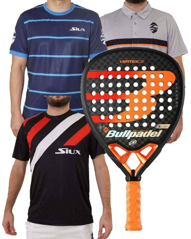 PACK BULLPADEL VERTEX 02, CAMISETAS SIUX Y POLO SIUX